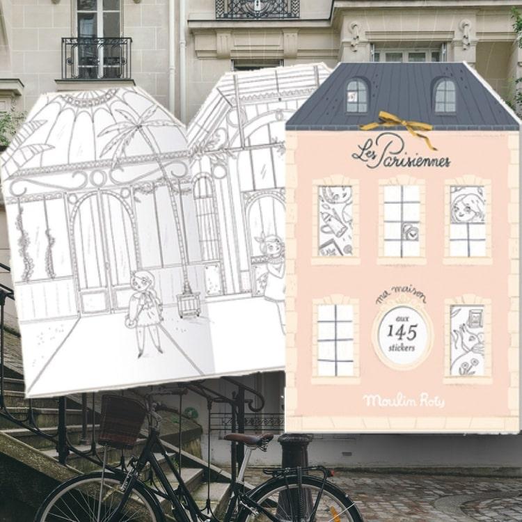 Vacker pysselbok med klistermärken - 'Les Parisiennes'