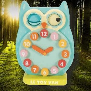 Lär dig klockan med ugglan från Le Toy Van