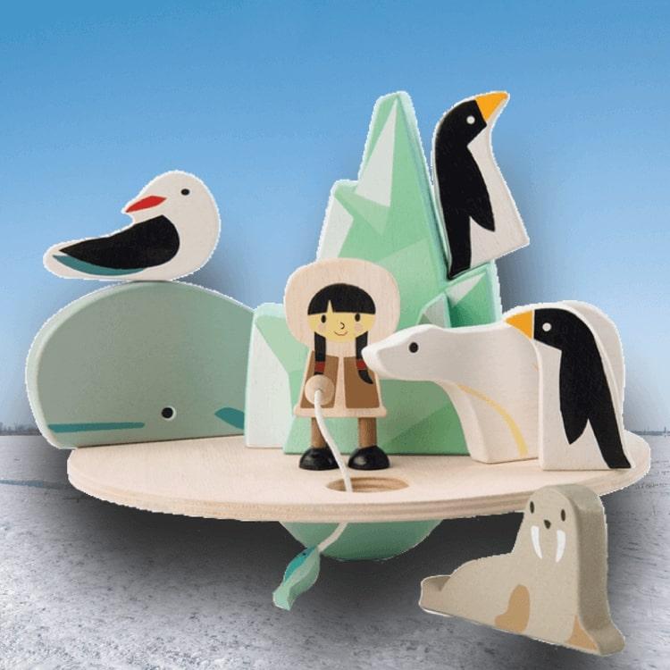 Balanslek Nord- och Sydpol från Tender Leaf Toys