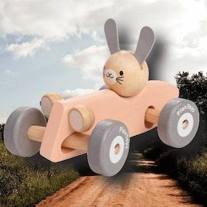 Bunny racing car från PlanToys (ekologiska leksaker)
