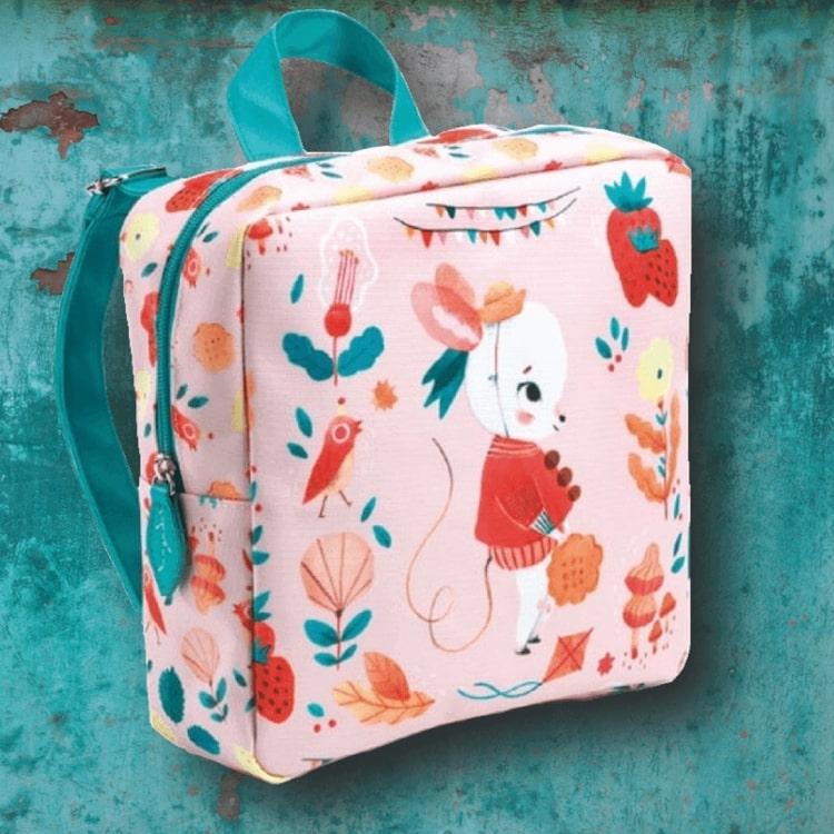 Underbar barnryggsäck (Nursery school bag, Mouse) från Djeco