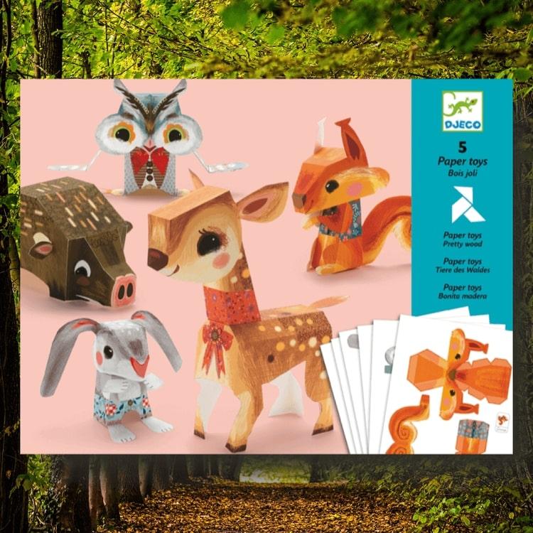 Pretty wood - vik ihop skogens djur från Djeco