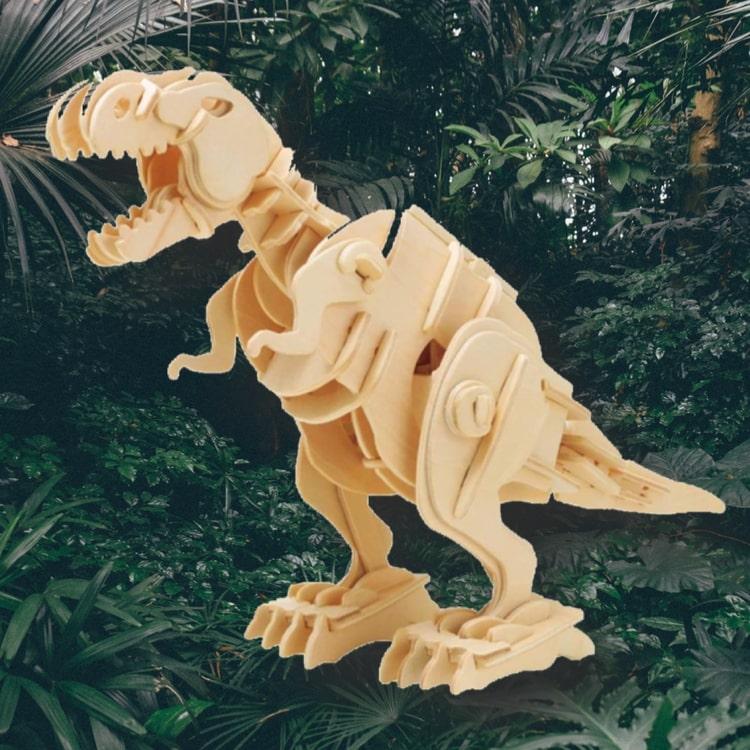 Bygg en T-Rex som går och ryter när du klappar i händerna!