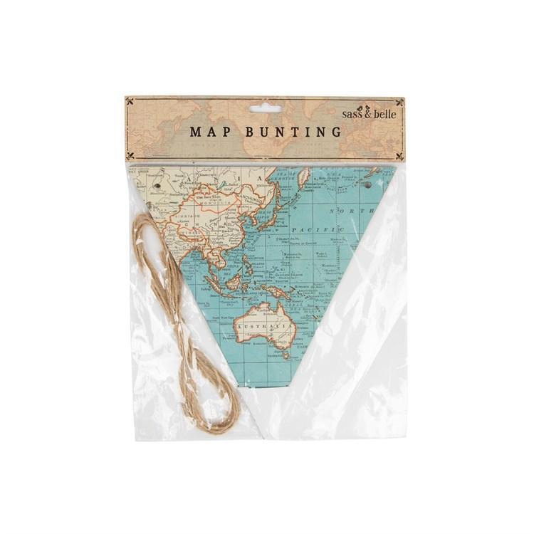 Vackert flaggspel med kartor från Sass & Belle
