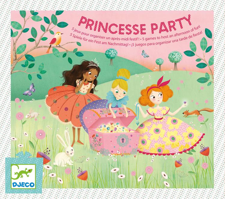 Lekar med prinsesstema till barnkalas från Djeco