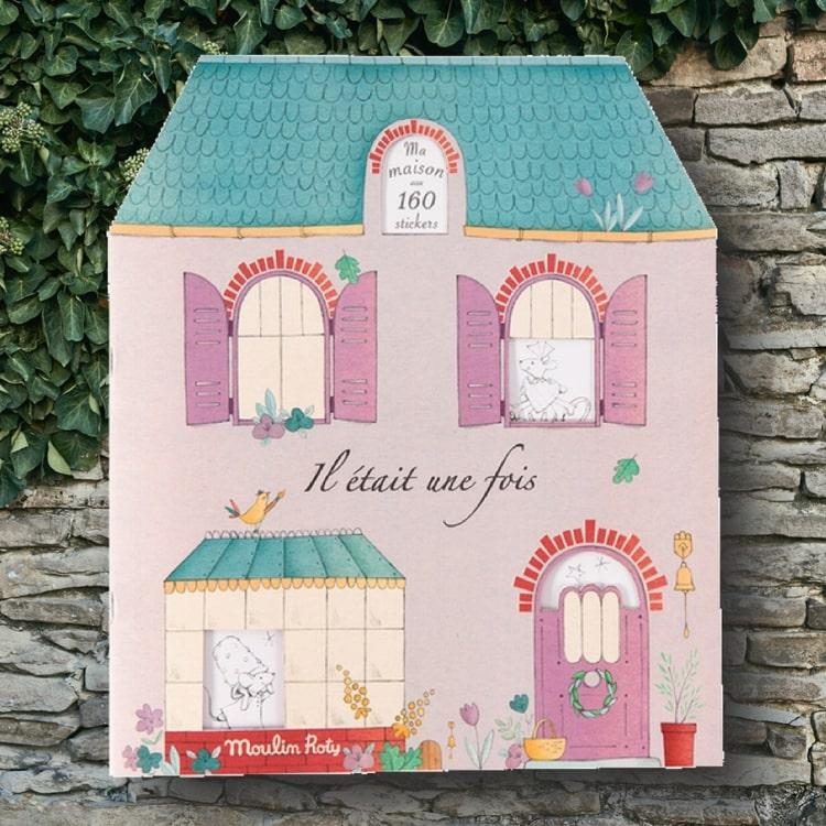 Pysselbok med klistermärken -  'Il Était Une Fois' från Moulin Roty