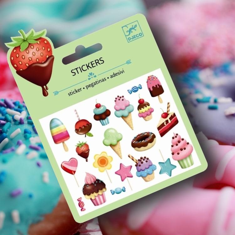 Klistermärken - Sweets från Djeco