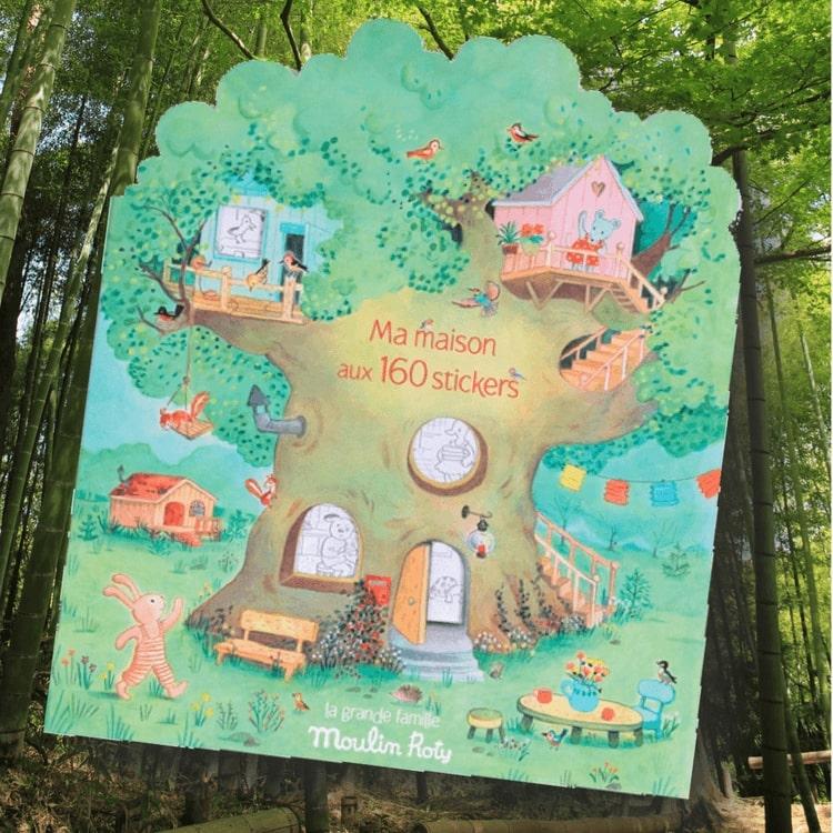 Pysselbok 'Le Grande Famille' med klistermärken - Från Moulin Roty
