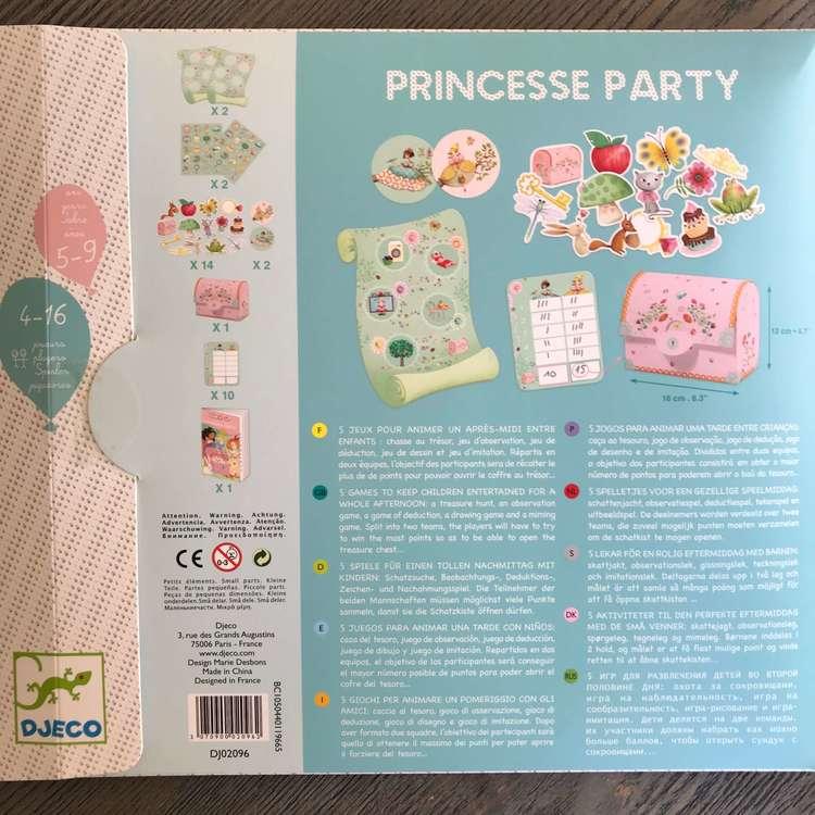 Lekar med prinsesstema till barnkalas