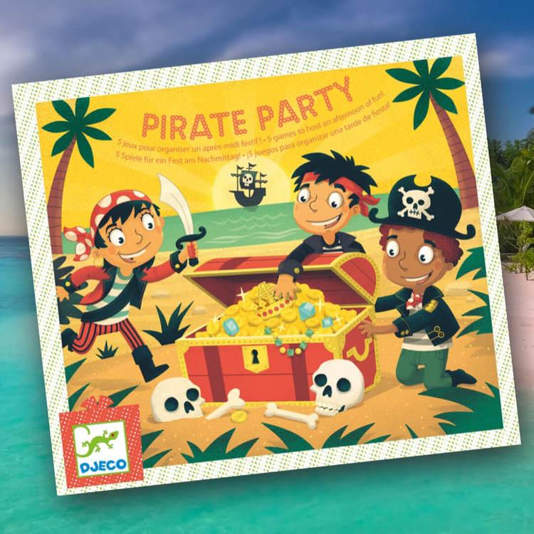 Lekar med pirattema till barnkalas