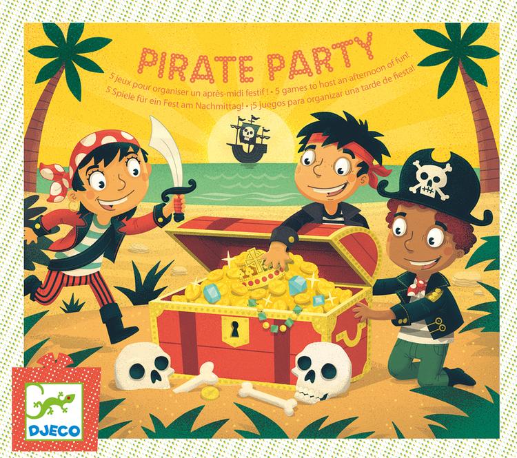 Lekar med pirattema till barnkalas från Djeco