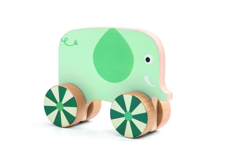 Skruva på hjulen (Vis´n´roll) från Djeco för de minsta