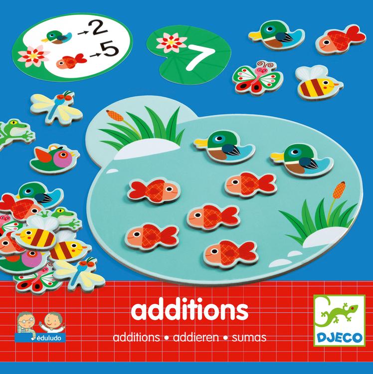 Lär dig räkna addition (Eduludo) pedagogiskt spel från Djeco