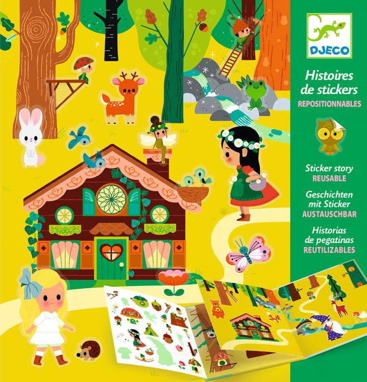 Den magiska skogen - klistermärken från Djeco
