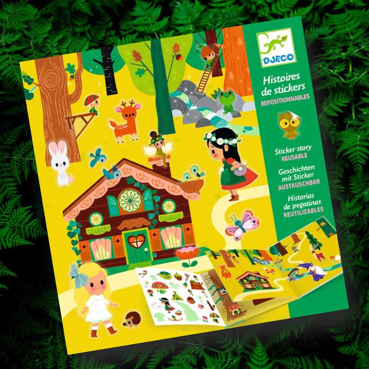 Den magiska skogen - återanvändbara klistermärken från Djeco