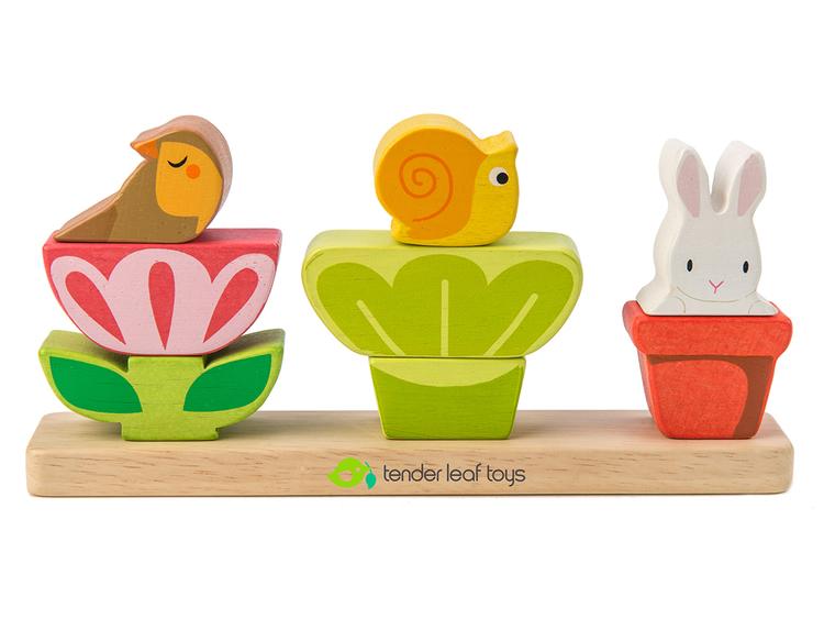 Stapla din trädgård - Öva fingerfärdigheten från Tender Leaf Toys