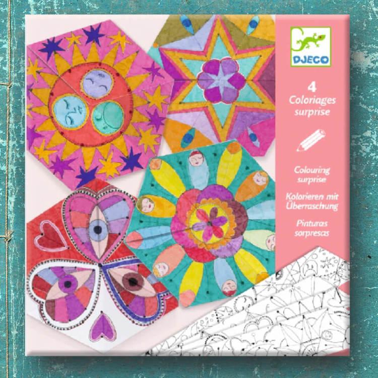 Färglägg mandalas och vik till fina mönster från Djeco