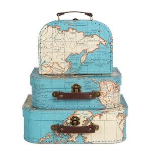 Underbara väskor med kartmotiv från Sass & Belle