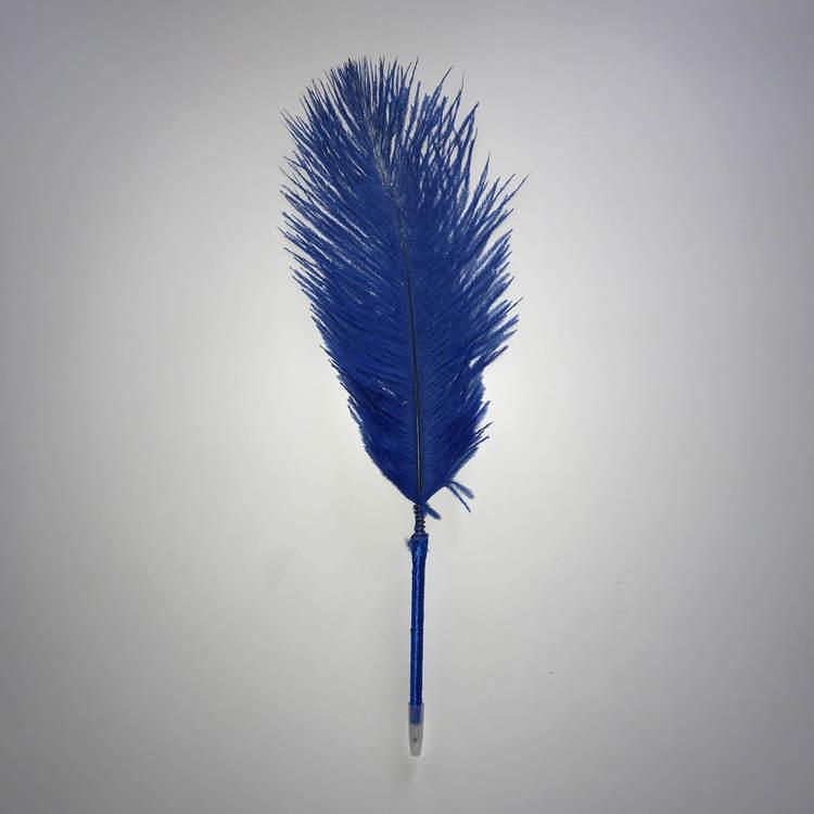 Fjäderpenna, strutsplym - välj bland många färger Blå