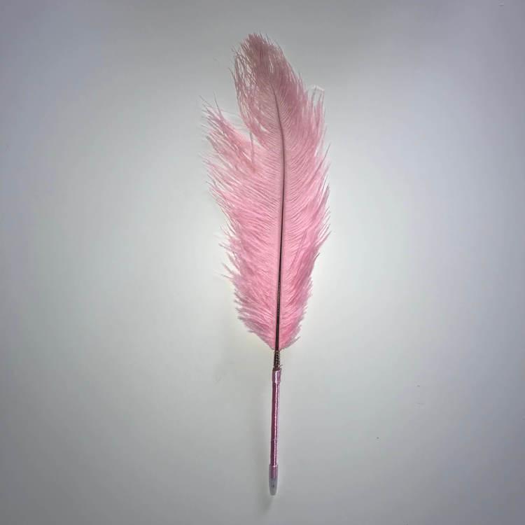 Fjäderpenna, strutsplym - välj bland många färger ljusrosa