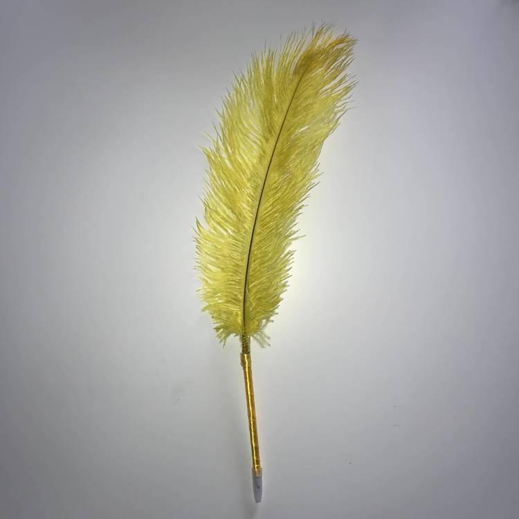 Fjäderpenna, strutsplym - välj bland många färger gul