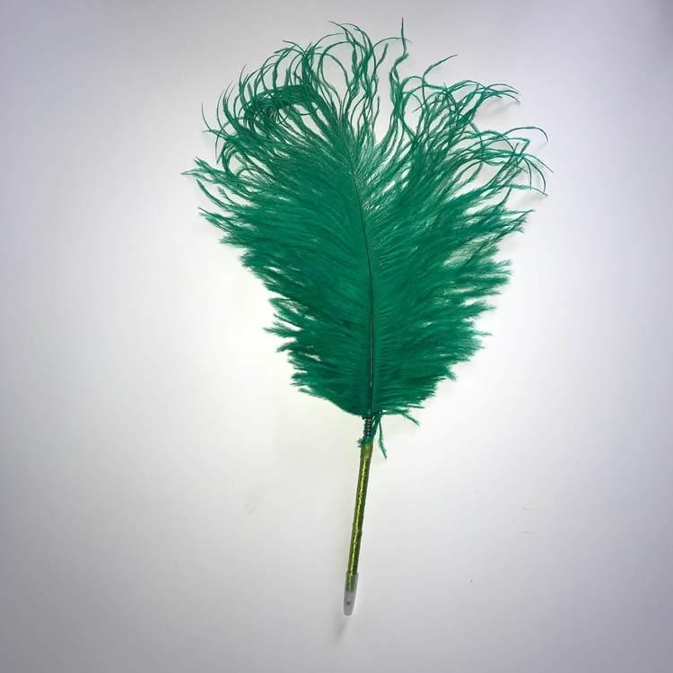 Fjäderpenna, strutsplym - välj bland många färger grön