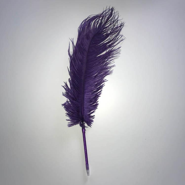 Fjäderpenna, strutsplym - välj bland många färger mörklila