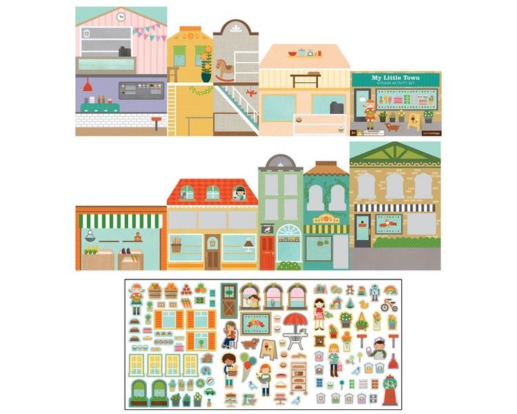 Staden - Återanvändbara klistermärken från Petit Collage