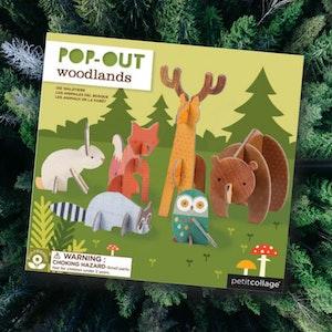 Pop-out Djuren i skogen (21 delar)
