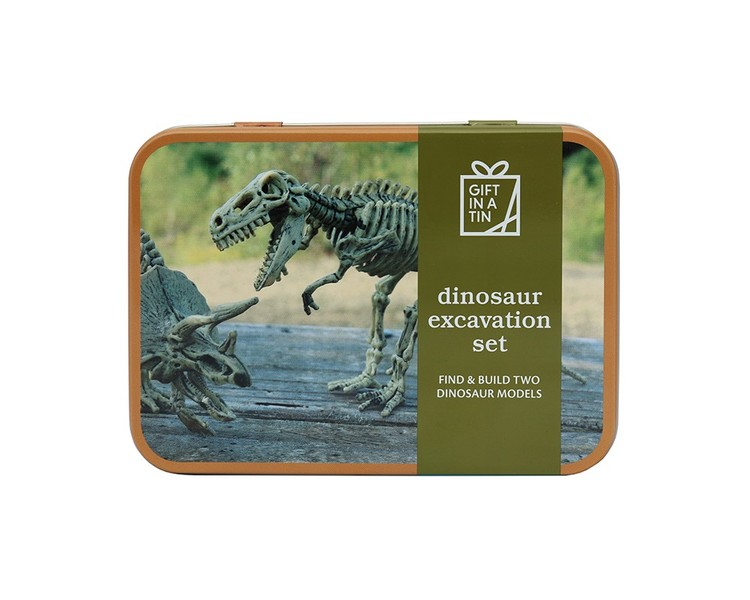 Dinosaurieutgrävning från Gift in a tin