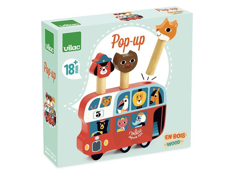 Leksak för de minsta. Buss från Vilac