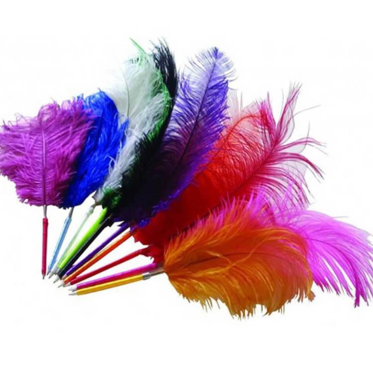 Fjäderpenna (Fri frakt), strutsplym - Välj vilken färg du vill ha