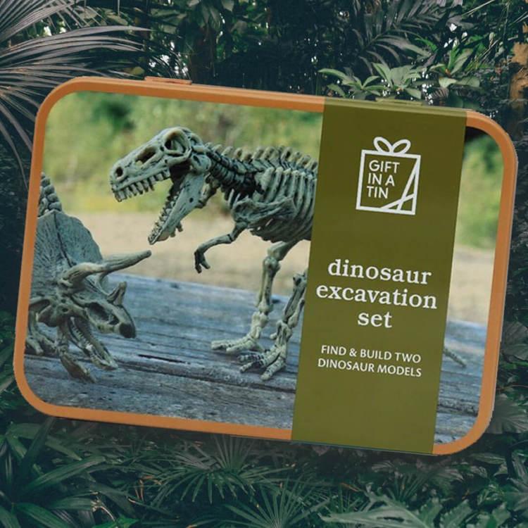 Dinosaurieutgrävning - Gräv ut en egen dinosaurie