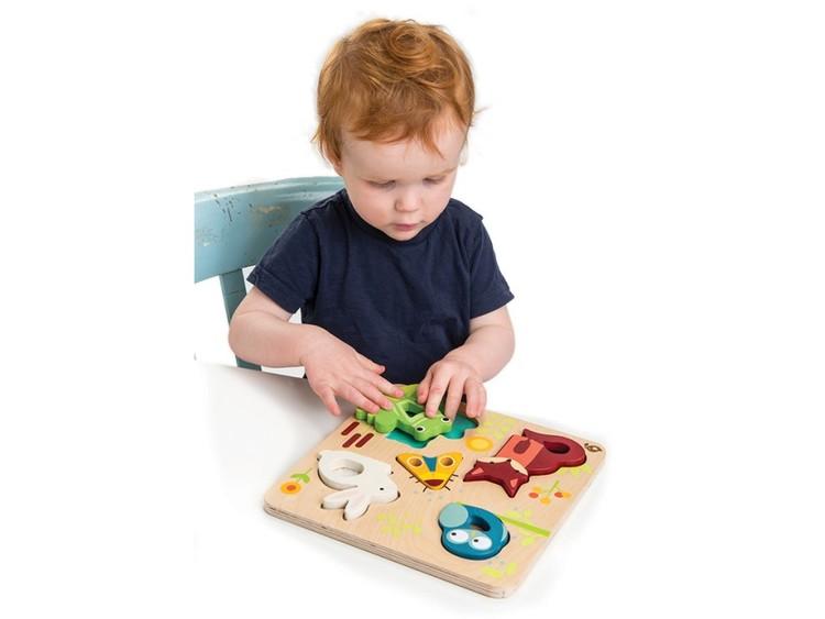Pussel - Hur känns djuren? från Tender Leaf Toys