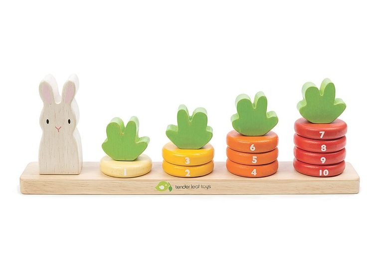 Stapellek - Räkna morot från Tender Leaf Toys