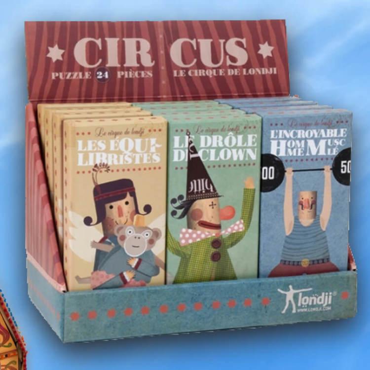 Små cirkuspussel - välj mellan tre olika varianter (24 bitar)