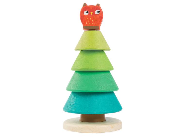 Stapellek - Ugglan i granen från Tender Leaf Toys