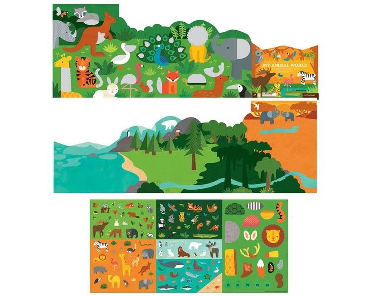 Djuren - Återanvändbara klistermärken från Petit Collage