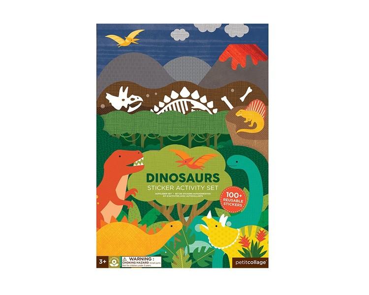 Dinosaurier - pysselböcker med klistermärken från Petit Collage