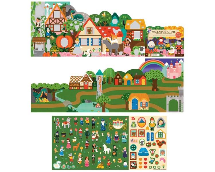 Sagor - Pysselbok med klistermärken från Petit Collage