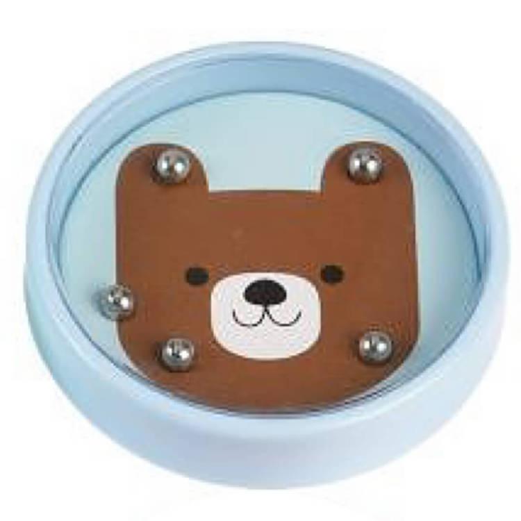 Tålamodsspel eller minspel i pastell - björn eller nalle