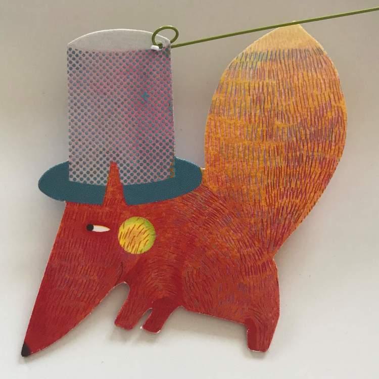 Härlig mobil med djurparad (Carneval of animals) från Djeco - Räv