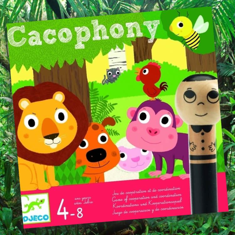 Kakafoni! - Ett spel där du ska leda dina medspelare rätt med djurläten