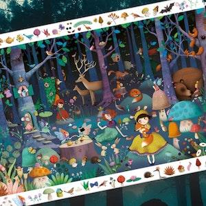 Observationspussel - Den förtrollade skogen (100 bitar)