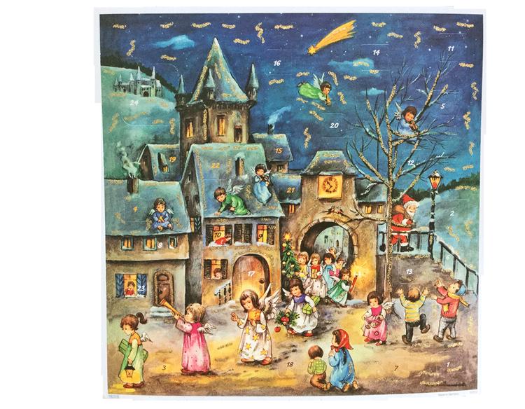 Adventskalendrar - klassiska med glitter - Flera olika att välja bland