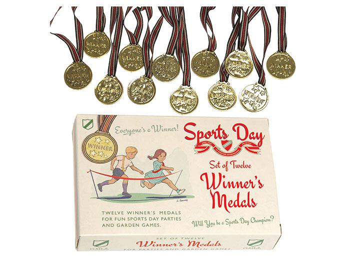 Medaljer (12 st) för barn med retroutseende