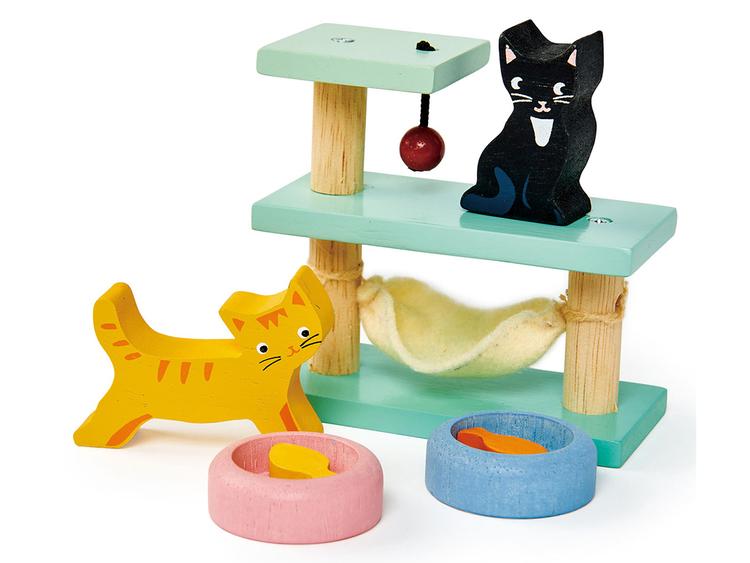 Klätterställning för katter, fint till dockskåpet från Tender Leaf Toys