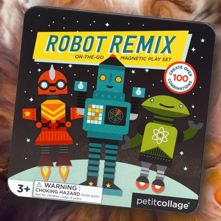 Robotarna - Magnetiskt lek i fin låda