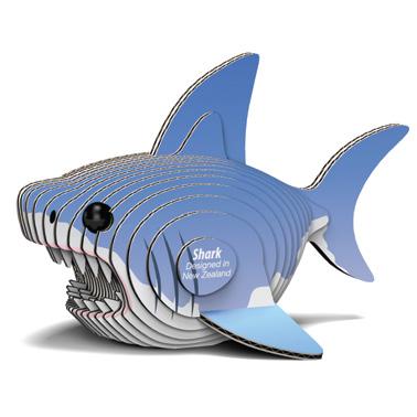 Djur från Dodoland för montering och modellbyggande haj