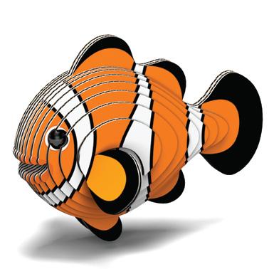 Djur från Dodoland för montering och modellbyggande clownfisk